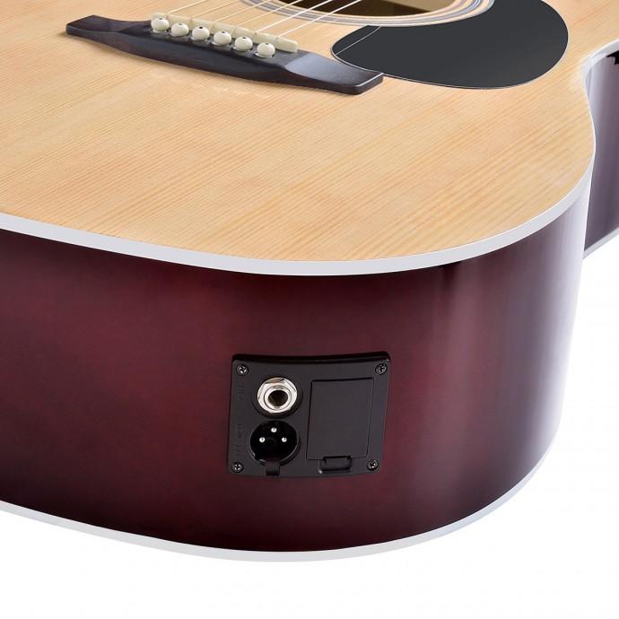 soundsation guitare acoustique yellowstone-dnce-bk