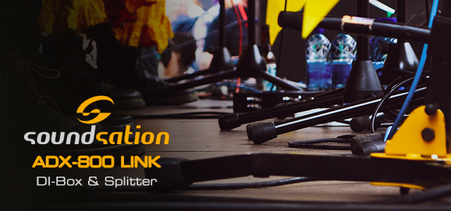 Introducing the new Soundsation ADX-800 LINK DI-Box & Splitter